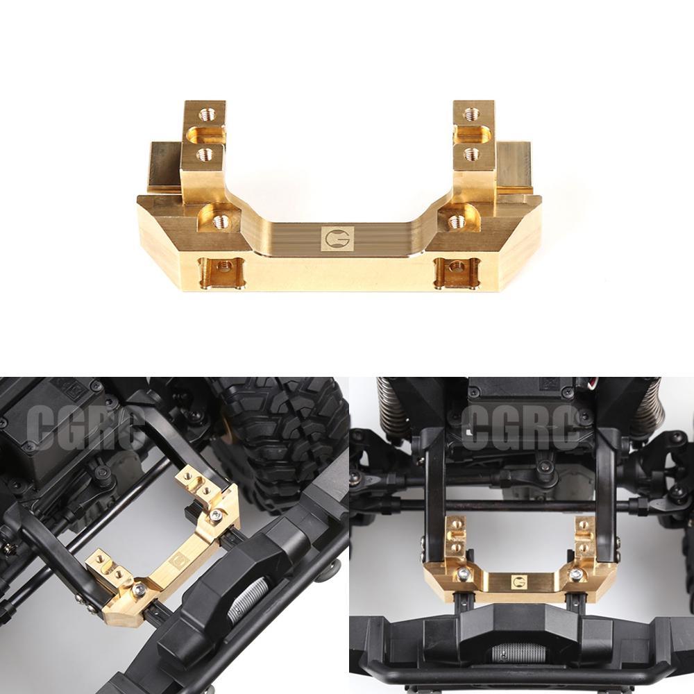 Actionneur avant support de support en cuivre Base de pare-chocs Servo gravité changement pour Trx-4 T4 Trx4 Trx 4