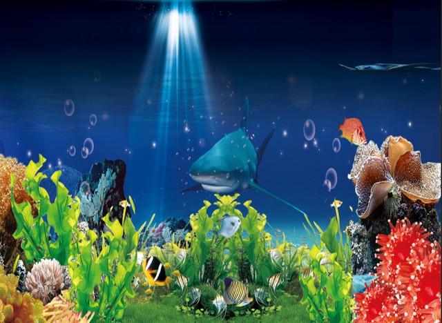 7x5ft unter meer aquarium shark korallen felsen. Black Bedroom Furniture Sets. Home Design Ideas