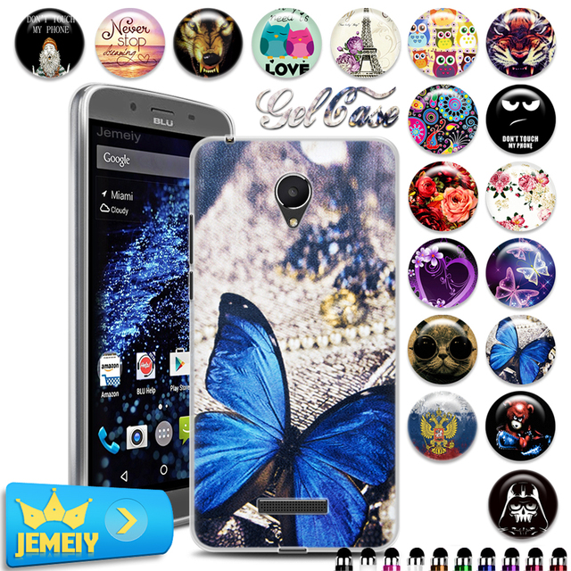 los angeles 8f1be 8f851 US $2.99 |Flora Art Printed Soft TPU Case Cover For BLU Studio XL 6.0 HD  D850Q 6.0 Various Printed Patterns UV Printed Cartoon TPU Cover-in Fitted  ...