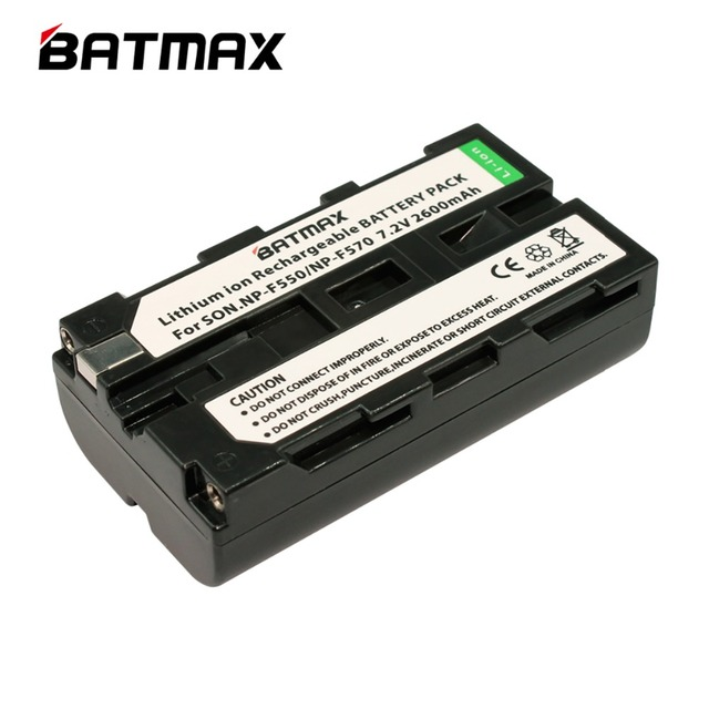 1pcs NP-F550 NP F550 NPF550 Rechargeable Li-ion battery (2600mAh) for Sony NP-F330 NP-F530 NP-F570 NP-F730 NP-F750 Hi-8