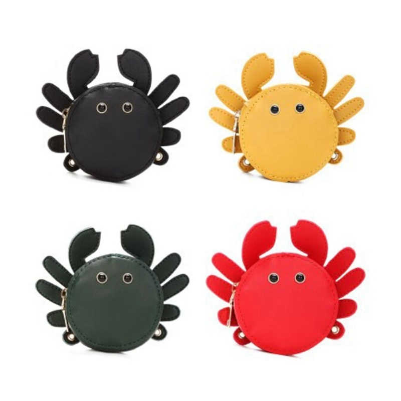 PU Waterproof Mini Children`s Satchel Lovely Party Birthday Gift Shoulder Crab Bags Handbags For Child Girls Messenger Bag