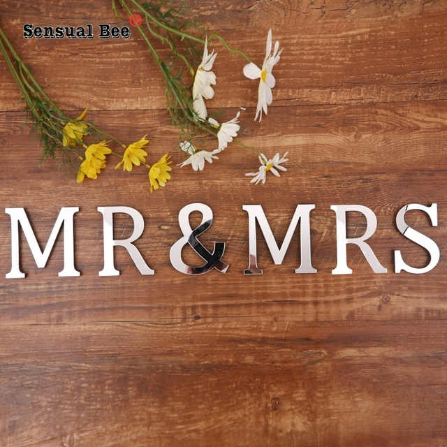 English Letters Acrylic Mirror Surface Wall Sticker 3D Silver Alphabet Poster Bedroom Festival Party Decoration DIY Art Mural 6