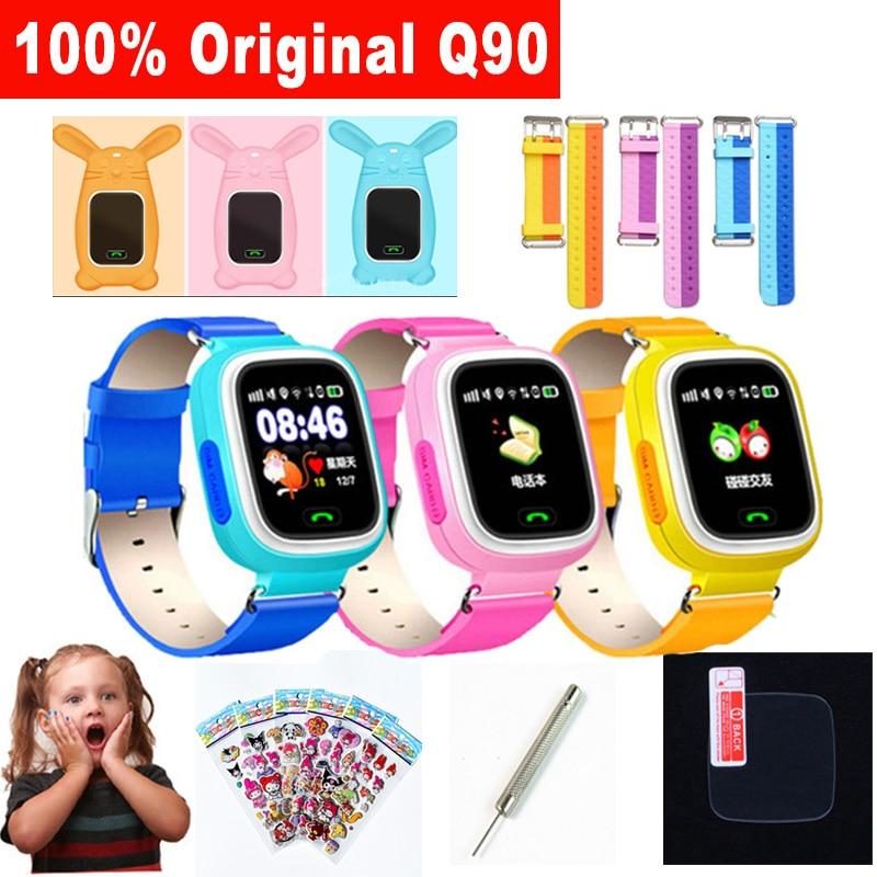 Q90 GPS Téléphone Positionnement De Mode Enfants Montre 1.22 pouce Écran Tactile Smartwatch WIFI SOS Montre Intelligente Bébé Q750 Q100 Trouver