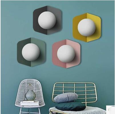 new modern simple and stylish wall lamps the spanish defender living room wall lights bedroom simple engineering fg636 Nordic  creative Maccaron simple modern living room stairs aisle bedroom bedside wall lamps TA9219