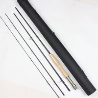 High Quality 100 Carbon 2 1M 4 Sections Fly Fishing Rod Fishing Tackle