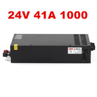 1PCS 1000W 24V 40A LED power 24V Power Supply 24V 40A AC DC High Power PSU 1000W DC24V S 1000 24 110/220VAC