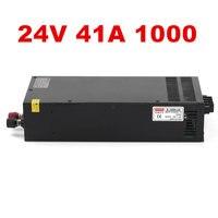 1PCS 1000W 24V 40A LED power 24V Power Supply 24V 40A AC DC High Power PSU 1000W DC24V S 1000 24 110/220VAC