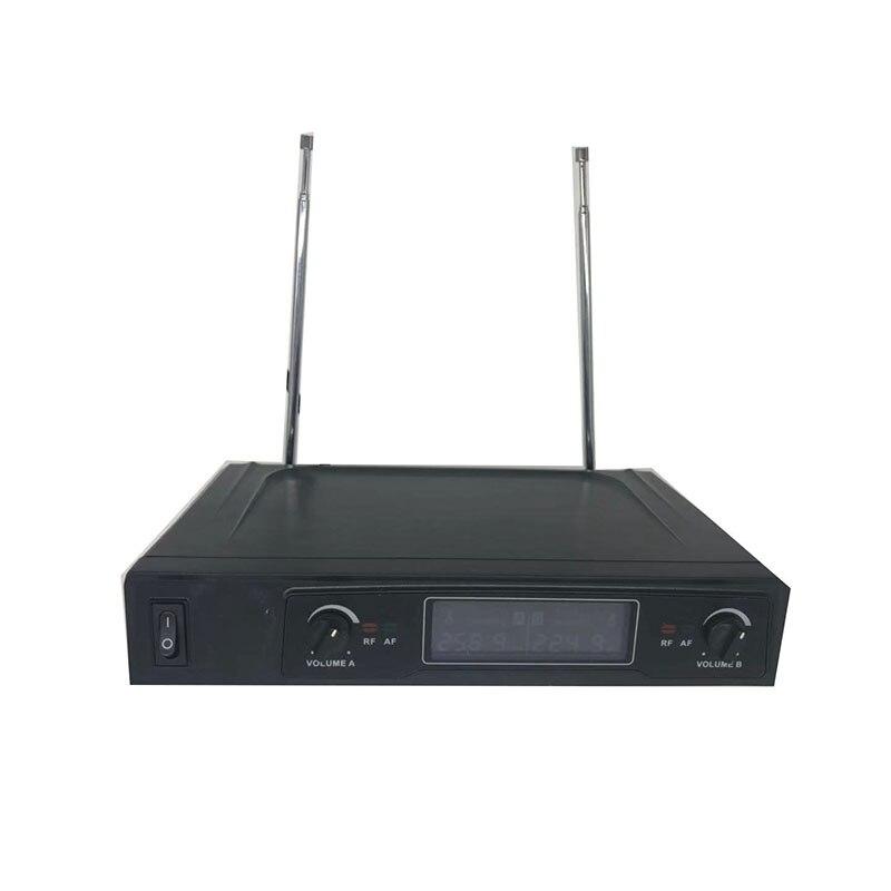 Système de Microphone sans fil double Microphone à main sans fil Kit de Microphone sans fil professionnel 2 canaux pour karaoké en Studio - 5