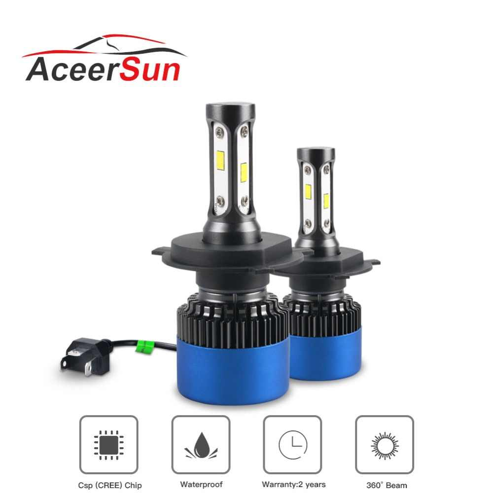 NEW 2Pcs 12V Car Headlight H4 LED H7 H1 H11 HB1 HB2 HB3 HB4 HB5 9003 9004 9005 9006 9007 Fog Bulbs 80W 12000LM 6500K Light Bulbs