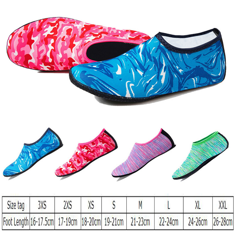 Summer Men Women Swimming Water Shoes For Beach Camping Shoes Flippers Camouflage Neoprene Socks Non-slip Aqua Shoes Yoga