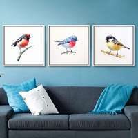 New Watercolor Small Bird Pattern Round DIY Diamond Painting Nordic Style Living Room Decoration Handwork Full