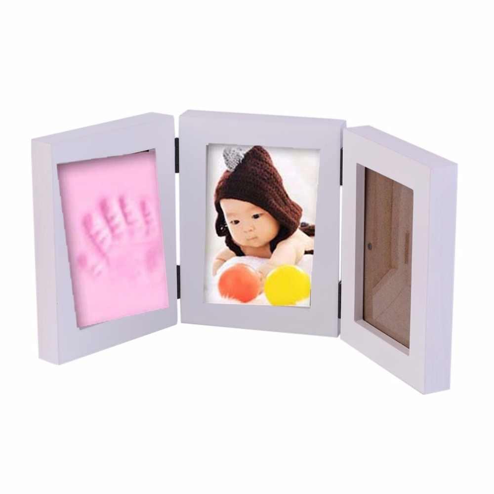 3D DIY детская фоторамка отпечаток руки мягкая глина безопасная чернильница 3 коробки рамка украшения на свадьбу на день рождения подарки без крышки