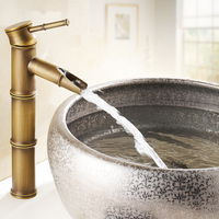 European Antique Faucet Basin Faucet Brass Mixer Tap Single Hole 12 Inch Bathroom Basin Faucet Boombo