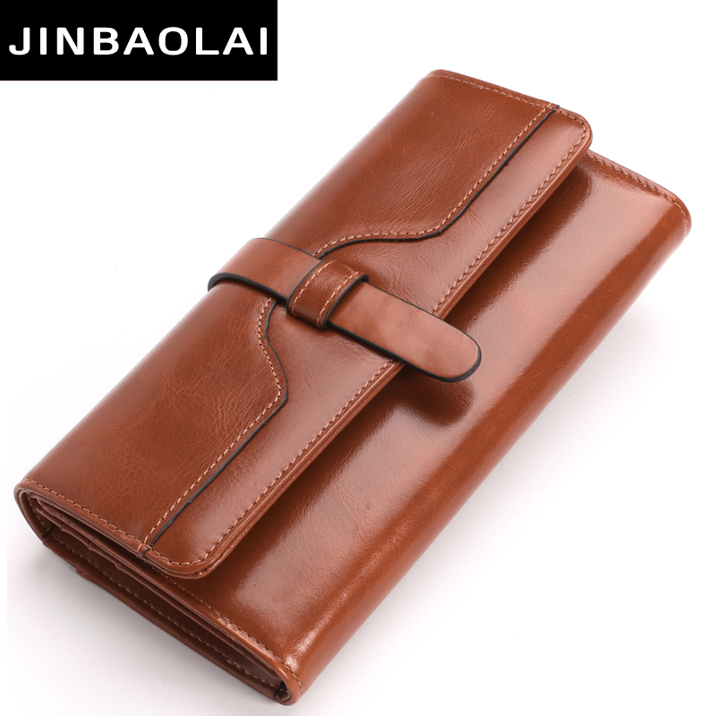 2017 New Women Wallets Genuine Leather High Quality Long Design JINBAOLAI Brand Clutch Cowhide Fashion Hasp Wallet Female Purses 100% genuine leather womens wallets alligator leather lady long wallet coin clutch purses new design hasp high quality purse