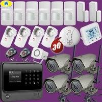 Комплект 1080 P Wi Fi IP Камера G90B плюс + WiFi 3G GSM WCDMA Беспроводной сигнализации дома Системы видеонаблюдения Системы Температура Сенсор