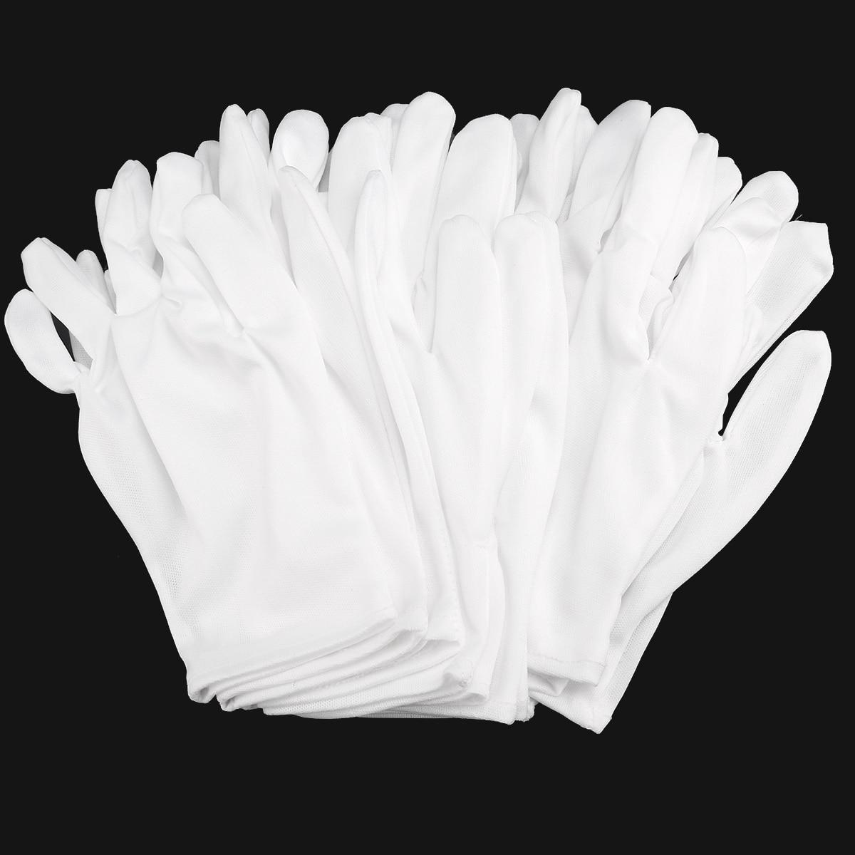 MUSEYA 8pairs/set Lightweight Nylon Protective Glove Film Handling Gloves Working Mittens