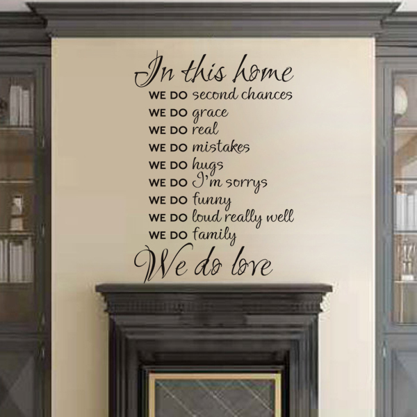 Home Rules In This House We Do Love Vinyl Wall Decal Wall Art Living Room  Decor Part 62