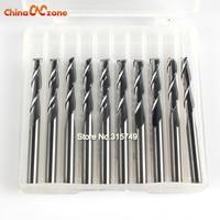 10Pcs 2 Flute 1 8 3 175mm High Quality Carbide CNC Ball Nose End Mill Bits