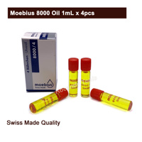 Moebius 8000 Oil 1mL x 4pcs Special Watch Quartz Oil Professional Oil Watch Repair Tools for Watchmakers
