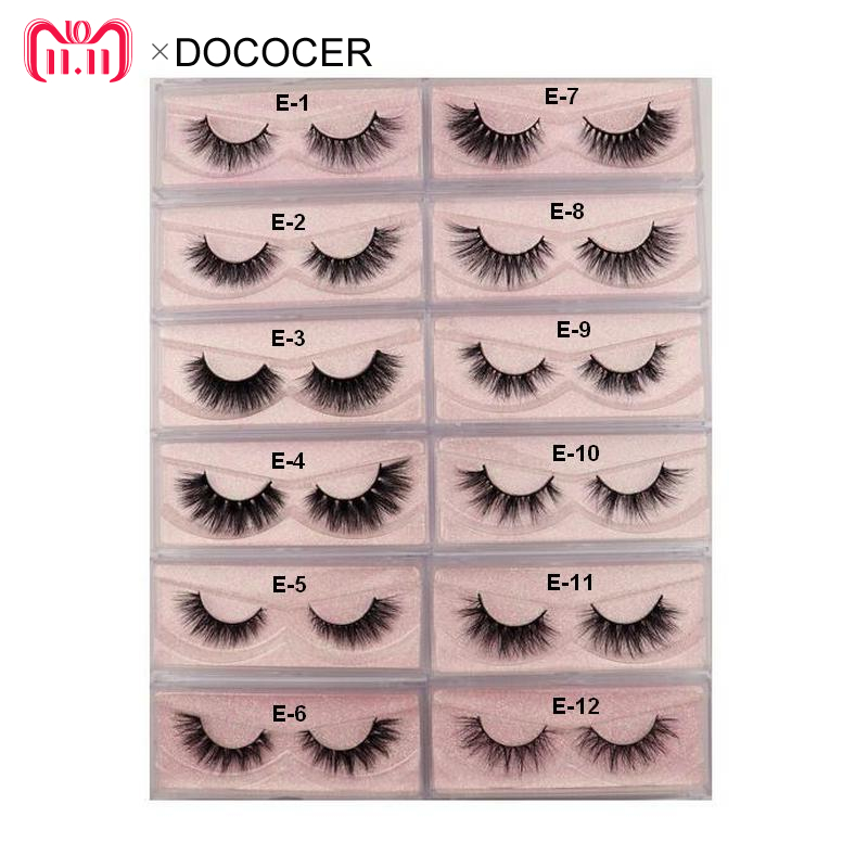 Mink Eyelashes 3D Mink 100% Cruel Eyelashes Handmade Natural Reusable Small Eyelashes False Eyelash Makeup Eye