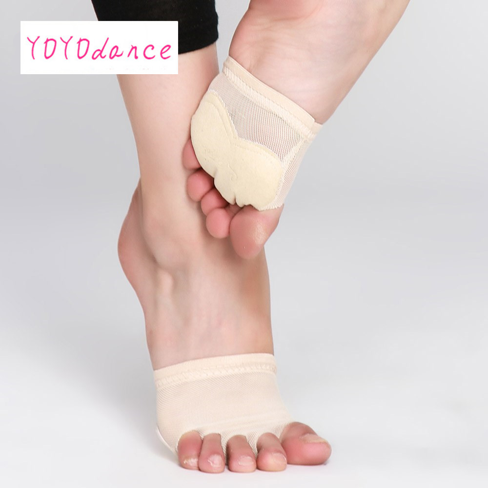 Five Holes Professional Belly Toe Pad Modern Half Lyrical Dance Shoes Sandals Paws  Foot ThongsFive Holes Professional Belly Toe Pad Modern Half Lyrical Dance Shoes Sandals Paws  Foot Thongs