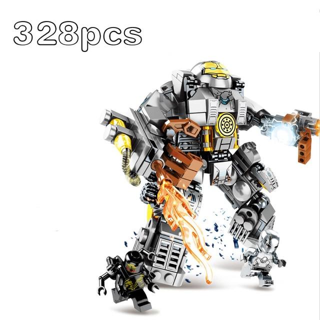 מארוול גיבורים על Hulkbuster MK1 Mech warrior תאנסו האלק בובת אבני בניין צעצועים לילדים מתנות