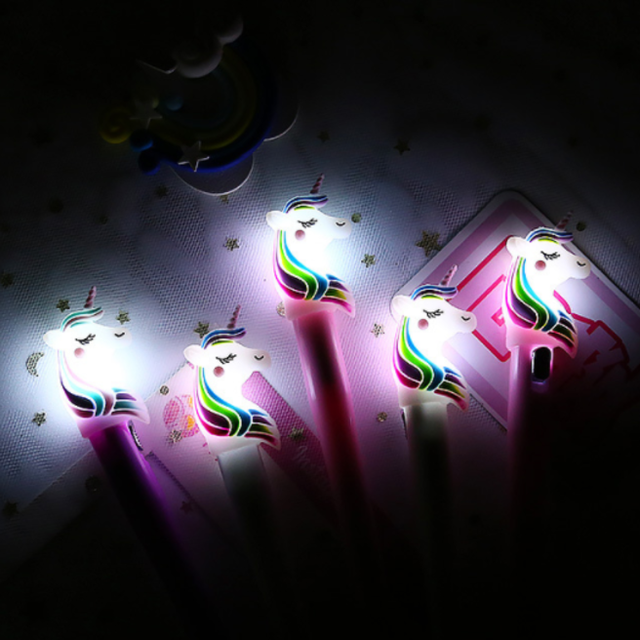 Luminous Unicorn Design Gel Ink Pen