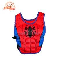 Trẻ em cuộc sống jacket vest Superman batman spiderman bơi bé trai bé gái câu cá siêu anh hùng hồ mối hồ bơi phụ kiện vòng