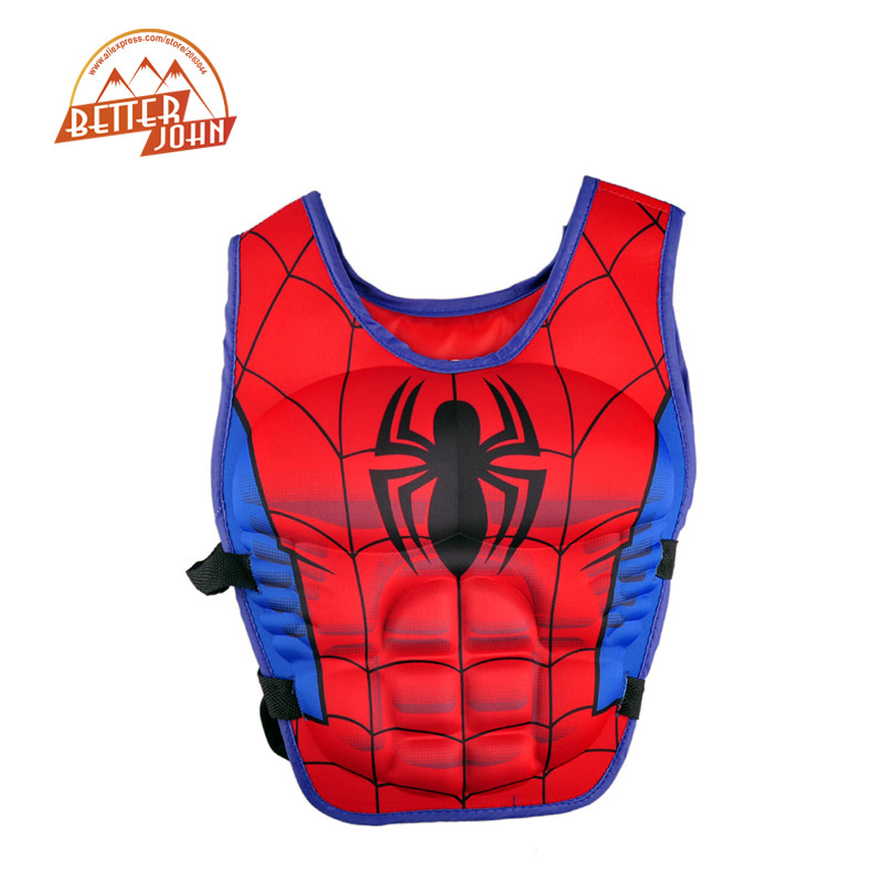 kids life jacket vest Superman batman spiderman swimming baby boys girls fishing superhero swimming circle pool accessories ring