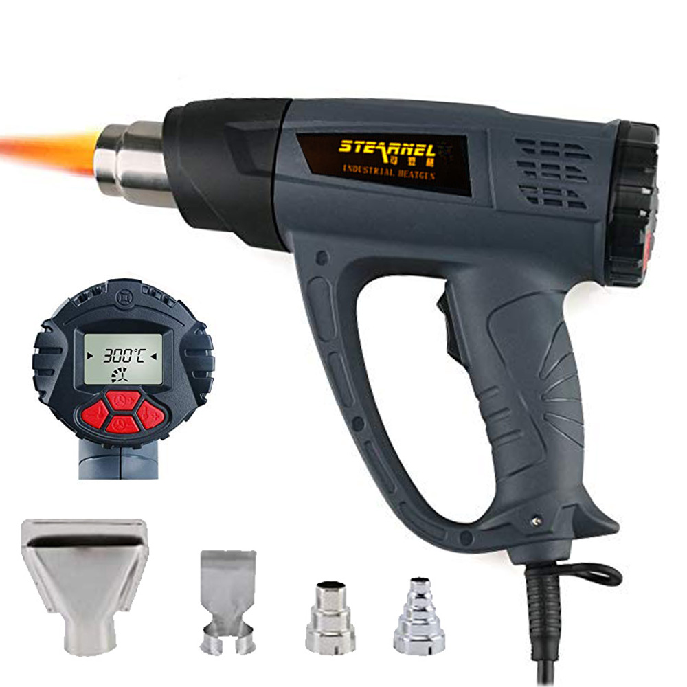 Heat Gun Hot Air Blower Tablet  with LCD Display 2000W Wireless Wind Control Memory Function Kits