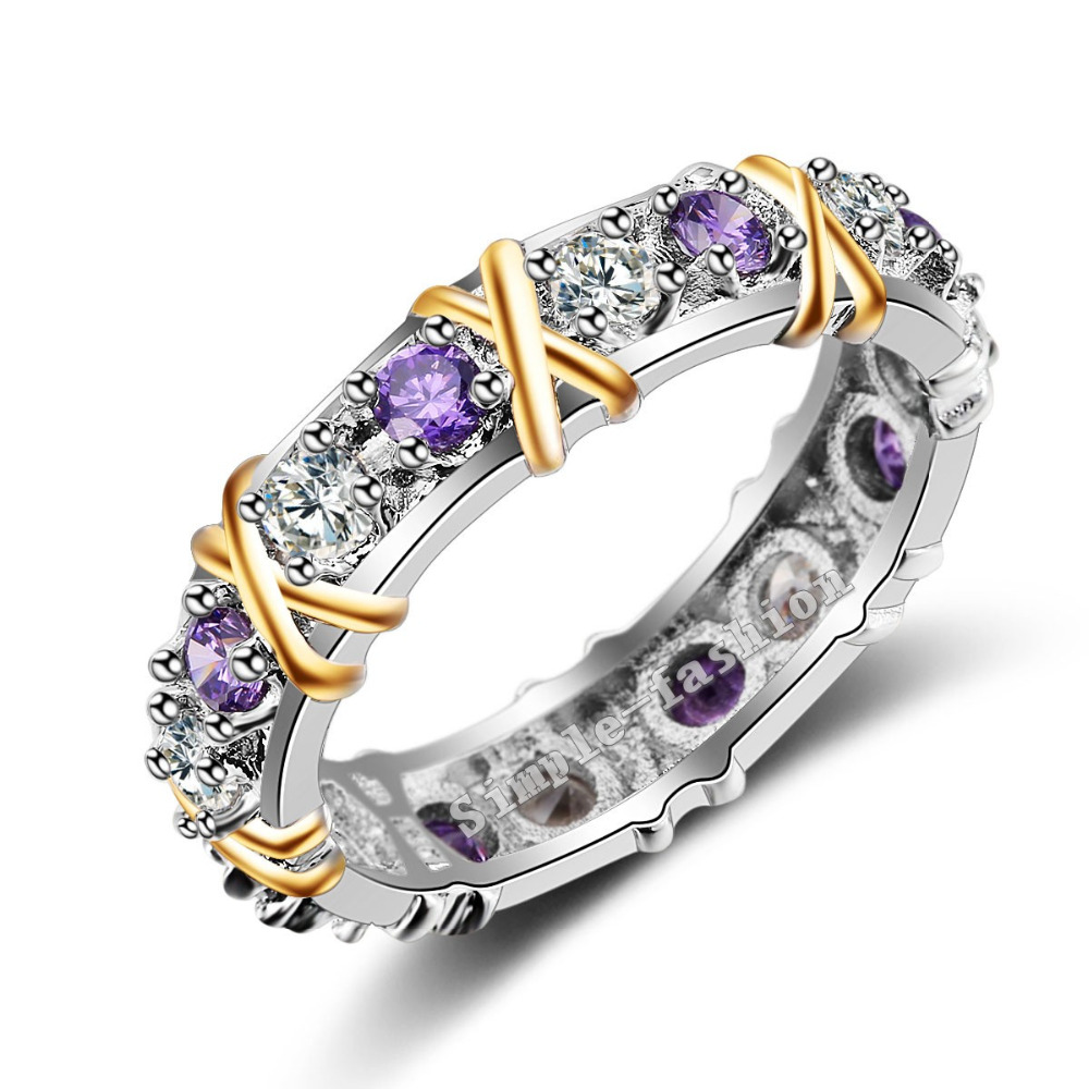 get cheap amethyst rings white gold aliexpress