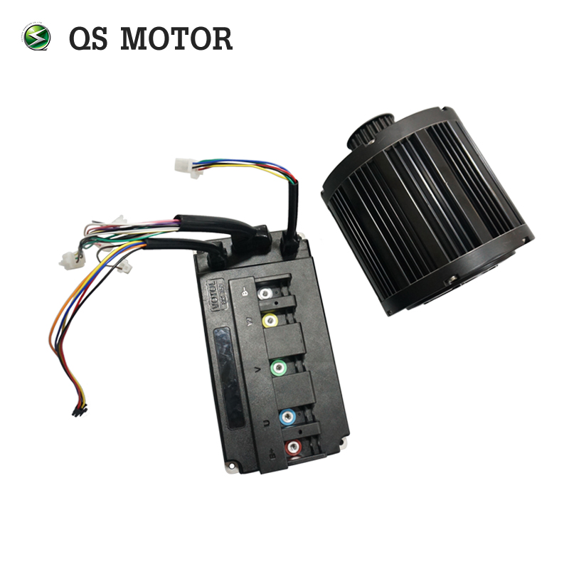 11.11 QS MOTOR 3000W 138 70H mid drive motor with EM150S controller max speed 100kph for electric scooter Z6 sneakers