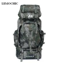 LEMOCHIC NEW Outdoor Sports Rucksacks military tactical sports bag Camping Camouflage male denim camping hiking fishing backpack