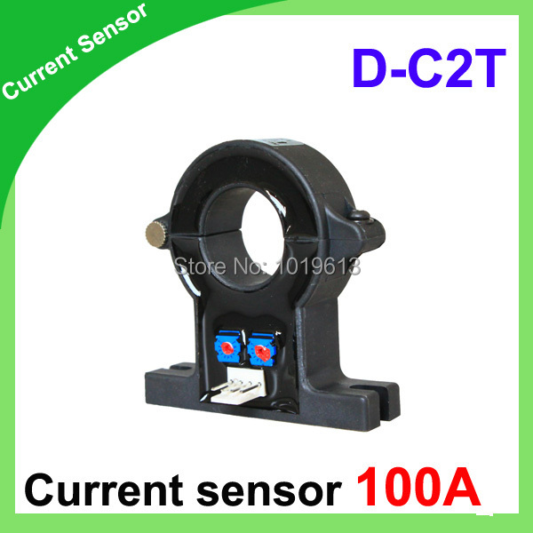 D-C2T Single hall effect current sensor 100a of DC current transducer hall current sensor d8 hall effect high current transducer 1000a dc current transducer
