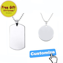 Custom Pictures Photos Necklaces Pendants Men Army Tags Stainless Steel Engraved ID Dog Tag Necklace Jewelry Gift 2017