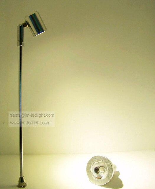 Led licht display stand spotlight in zilver/zwart aluminium sieraden ...