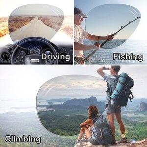 Image 3 - Naloain óculos de sol polarizado, óculos de sol espelhado e sem aro de titânio com lente uv400, espelhado, leve para homens e mulheres, para dirigir e pescar