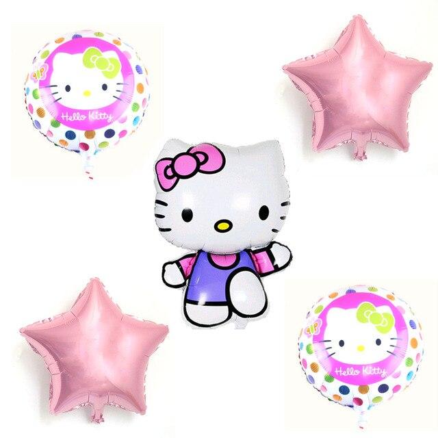 Aliexpresscom Comprar 5 unids Mix Hello Kitty Globos de Dibujos