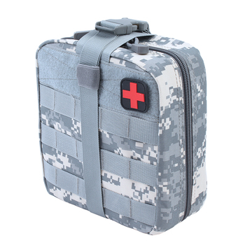 TACTIFANS First Aid Pouch Patch Bag Molle Hook and Loop Amphibious Tactical Medical kit EMT Emergency EDC Rip-Away Survival IFAK 3
