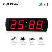 Ganxin 4 Led Brightness Adjustable China Led Clock Cheap