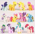 4-5cm12/pcs Plastic Horses Cute patrol PVC Unicorn Toys For Birthday Christmas doll Gifthorse toy Doll Brithday Gift For Child