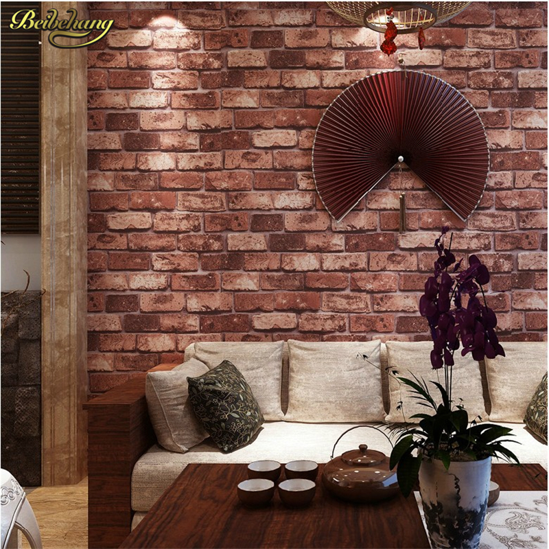 beibehang papel de parede Deep Embossed 3D Brick Modern Brick Pattern Paper Wallpaper Roll For living room  covering wall paper beibehang embossed damascus non woven wall paper roll modern designer papel de parede 3d wall covering wallpaper for living room