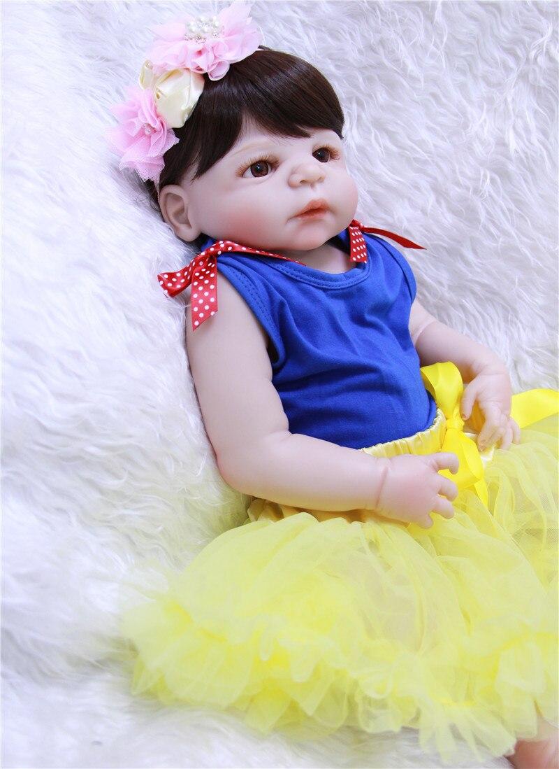 NPK 22 полное тело силиконовые Возрожденные куклы для малышей милая девочка bebes reborn bonecas для детские подарочные игрушки куклы реальные живые bonecas - 2