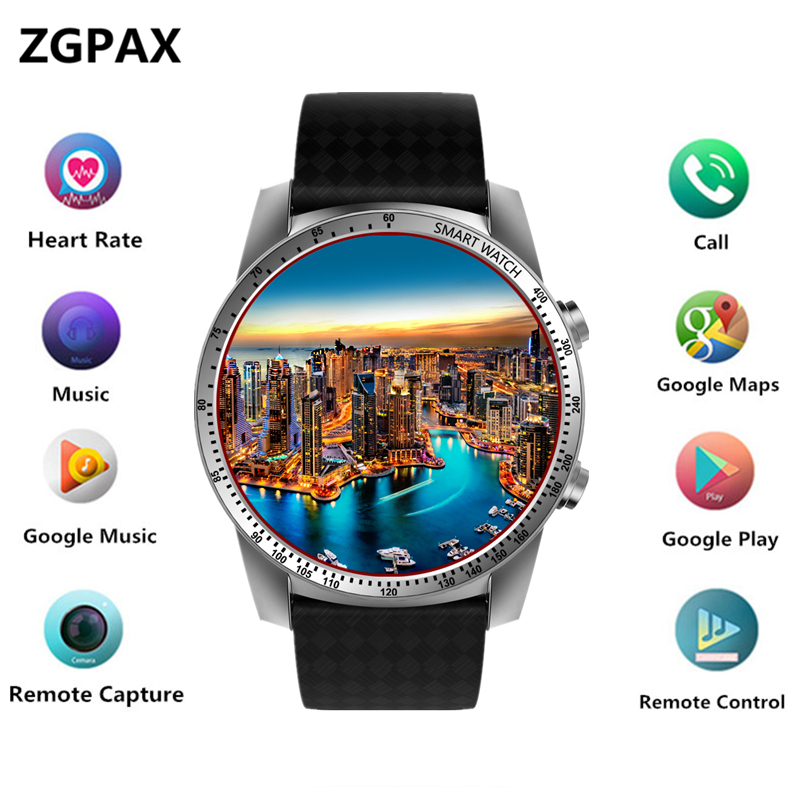 ZK99 Smart Watch Android Phone MTK6580 3G WIFI GPS Watch Men Heart Rate Monitor Bluetooth Smartwatch huami bip Phone PK LEM6 potino d7 smart watch android 4 4 sim bluetooth 4 0 smartwatch 500mah gps wifi 3g heart rate monitor smart wearable devices