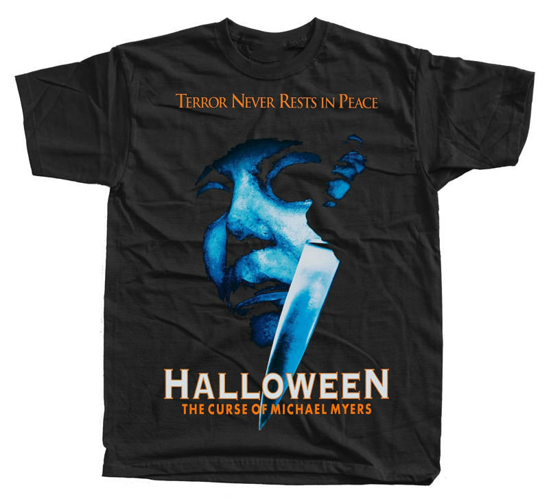 Halloween:The Curse of Michael Myers, poster 1995, T-Shirt(BLACK)ALL SIZES S-5XL T shirt Tops Summer Cool Funny T-Shirt