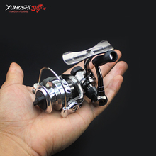 Metal Ultra-light Fishing Spinning Reel 4.3:1 150g Mini Ice Fishing Reel Metal Left/Right Handle Line Cup Fishing Reel