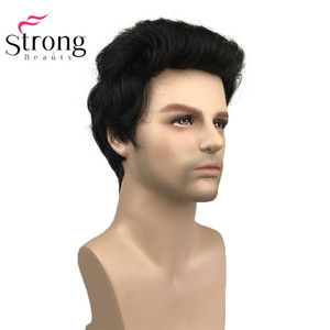 Image 3 - StrongBeauty Black Short Mens Wigs Synthetic Full Wig for Men