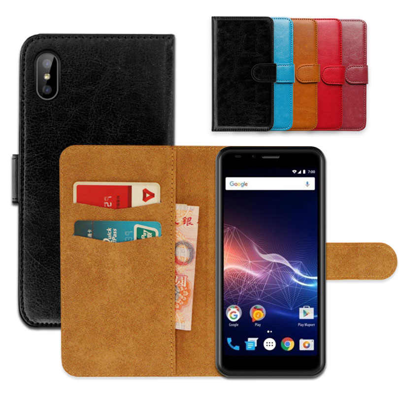 Luxury wallet case for Vertex Impress Click PU Leather Exclusive Slip-resistant Flip Ultra-thin Phone Cover,book case