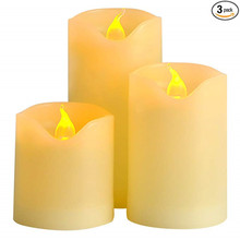 3pcs/set Flameless LED Candle Battery Operated Night Light for Wedding Birthday Party Christmas Home Decor