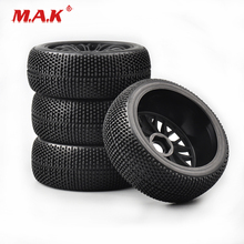 где купить 4Pcs/Set 1:8 Scale Buggy Tires and Wheel Rim 17mm Hex fit  HSP HPI RC Racing Off-Road Remote Control Toy Car Model Accessories дешево